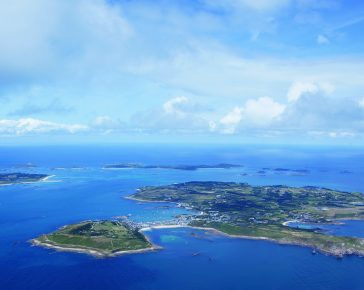 Scilly Isles Aerial View