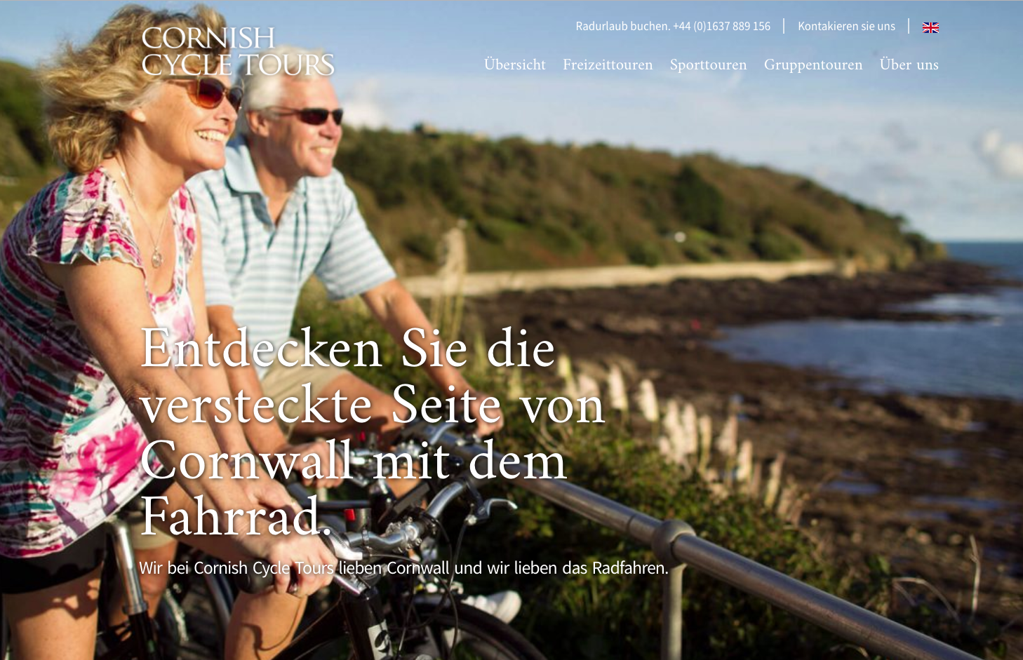 cornish cycle tours german website